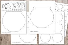 Or perhaps you have a home aquarium they love to these fish coloring pages are such a fun way for kids to colour their own variations of fishes they observed. Free Printable Fish Bowl Templates The Artisan Life