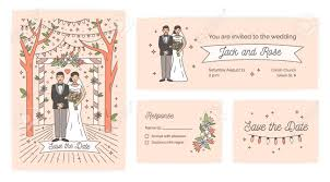 Wedding Ceremony Card Collection Of Save The Date Card Wedding Ceremony Invitation