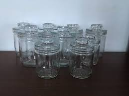 vintage retro decorative glass storage sweet jars 9 available