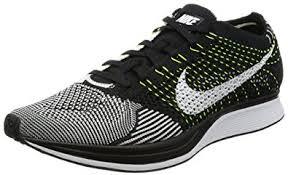 nike running shoes flyknit black. nike men\u0027s flyknit racer, black/black-anthracite, running shoes black