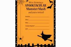 Blank Halloween Invitation Templates Halloween Party Invitations Templates Blank Halloween