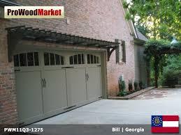 custom made pergola and garage door trellis