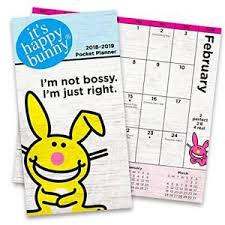 two year calender its happy bunny monthly pocket planner 2018 2019 two year calendar
