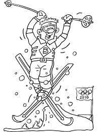 Kleurplaat Olympische Spelen Skiën Kleurplatennl