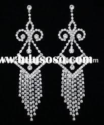 5 bridal prom pageant crystal chandelier earrings e450