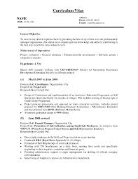 Sample Resume Project Manager Position Ideal Objective For