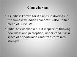 swot analysis of n economy excessively dependent on 11 conclusion bull as is known for it s unity in diversity