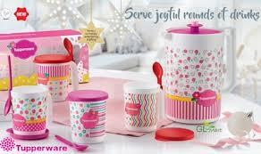 tupperware blushing pink pitcher and mug gift set