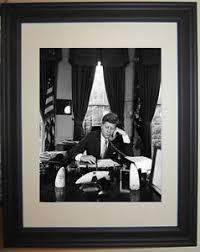 Jfk in oval office Phone Image Is Loading Johnfkennedyjfkovalofficewhitehouse Ebay John F Kennedy Jfk Oval Office White House Framed Photo Photograph