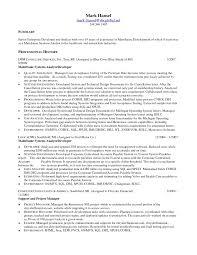 Mainframe Resume Sample Resume Peppapp