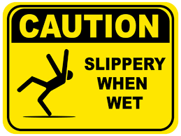 Caution Slippery When Wet Sign