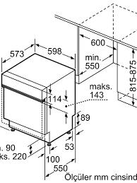 Siemens SN515S00DT Ankastre Bulaşık Makinesi ürünü turkuaztrade.com'da