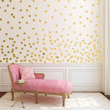 gold dot wall decals metallic gold