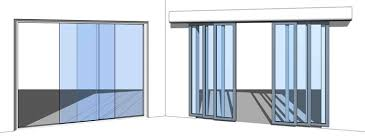 family allows you to setup single or double sided sliding doors either with or without a frame as the bi fold door the sliding door can be opened and