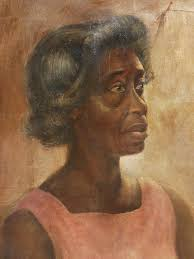 portrait of african american woman oil painting signed whedon