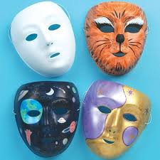 Plastic Masks To Decorate White Plastic Face Masks for Children to Paint Decorate and use 65