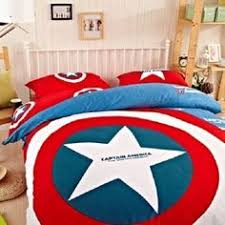 Captain America Twin Queen & King Size Duvet Cover Bedding Set Children  Teens