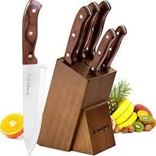 Emojoy Set Couteaux Cuisine 6 Pièces Ensemble De Couteaux Couteaux