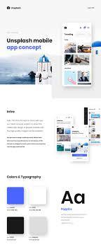 Matt S Web Design Unsplash Com Mobile App Concept On Behance