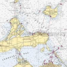 Ohio Kelleys Island Catawba Island Nautical Chart Decor