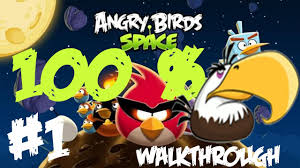 Angry Birds Space - Pig Bang - 100% Space Eagle Walkthrough - All levels  Theme #1 - YouTube