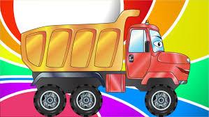 Dessin Anim Voiture Camion Grue Camion Poubelle Voiture