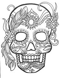 10 Sugar Skull Day Of The Dead Coloringpages Original Art Coloring