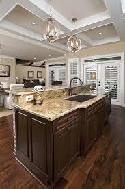 amazing kitchen lighting fixtures with granite countertop and brown floor