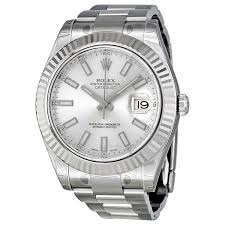 rolex datejust ii silver dial white gold fluted bezel men s watch rolex datejust ii silver dial white gold fluted bezel men s watch 116334sso