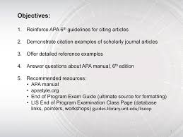 Apa Review Library Information Sciences End Of Program Exam Slide