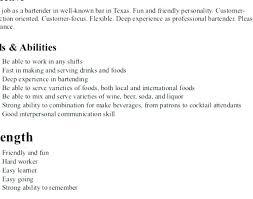 Bartender Resume Example Best Bartending Resumes Examples Davidkarlsson