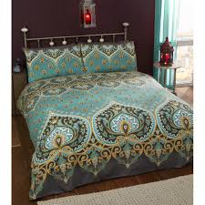 rapport emerald indian design duvet quilt cover and 1 pillowcase bed set polyester cotton single on on