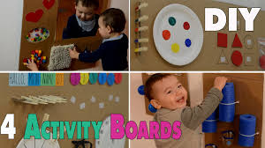 4 DIY Activity Boards for babys and toddlers   mamiblock - YouTube