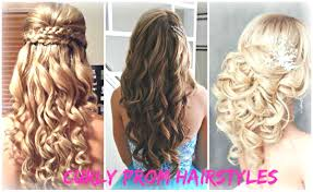 fashion half up curly prom hairstyles likable for short hair down 15 elegant 19 gallery