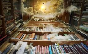 Man Made - Library Fantasy Book Cloud Mystical Magical Wallpaper