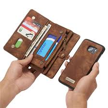 original luxury flip leather case for samsung galaxy s7 s7edge card slots wallet magnet removable phone stand accessories back cover reiko cell phone case