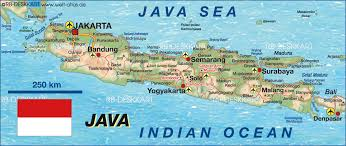 map of java (indonesia)  map in the atlas of the world  world atlas