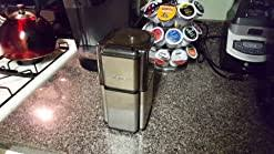 You just use the pulse button until you get the desired grind you. Amazon Com Cuisinart Grind Central Coffee Grinder Power Blade Coffee Grinders Kitchen Dining