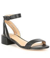antonio melani mabbela leather ankle strap block heel sandals dillard s