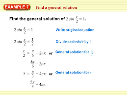 find a general solution