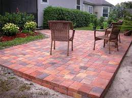 building a paver patio on a slope home