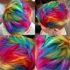 Short Rainbow Hair By Jaymzcutshair Hair Short Rainbow Hair