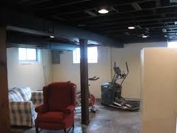 exposed ceiling lighting basement industrial black. black ceiling exposed lighting basement industrial