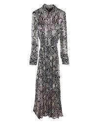 Massimo Dutti Women Snakeskin Print Dress With Tie Belt 6649 816 34 Eu Green