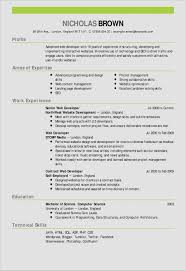 Web Developer Resume Sample Best Of 43 Graphic Design Cv Sample