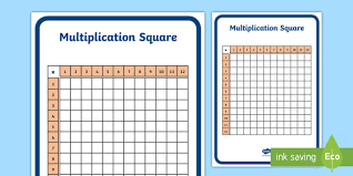 12 X 12 Multiplication Chart Printable 69 Always Up To Date Times Table Chart Square