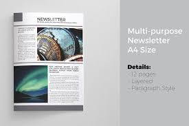 newsletter template for pages newsletter template 12 pages magazine templates creative market