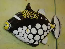 clown triggerfish.  Triggerfish Custom15u2033 Clown Triggerfish Wood Carved Hand Painted Wall Decor On