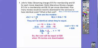 creating systems of linear equations module 12 1 part 1