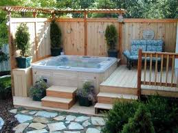 fullsize of exciting wooden terrace deck patio using wooden shade as well as hot tubs delightful